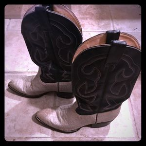 Men's Arizona Bill Cowboy Boots, Blue/cream color